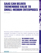 SaaS Can Deliver Tremendous Value to Small-Medium Enterprises